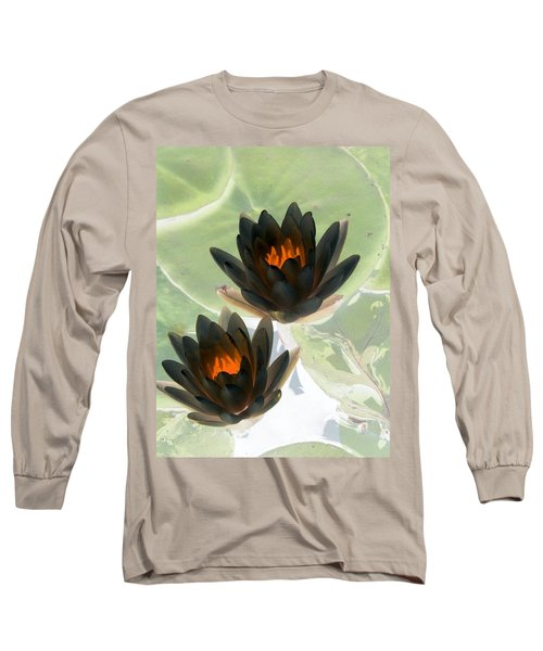 Long Sleeve T-Shirt featuring the photograph The Water Lilies Collection - Photopower 1046 by Pamela Critchlow