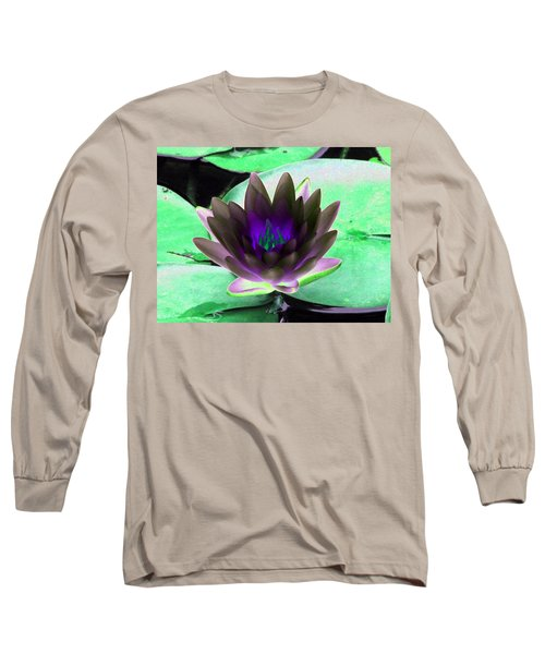 Long Sleeve T-Shirt featuring the photograph The Water Lilies Collection - Photopower 1116 by Pamela Critchlow