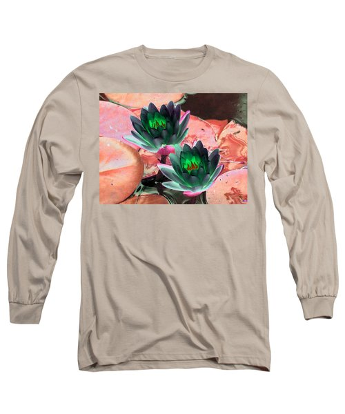 Long Sleeve T-Shirt featuring the photograph The Water Lilies Collection - Photopower 1120 by Pamela Critchlow