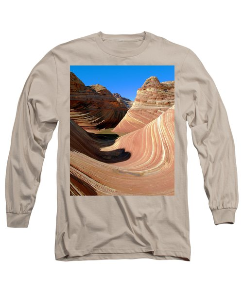 Long Sleeve T-Shirt featuring the photograph 'the Wave' North Coyote Buttes 19 by Jeff Brunton