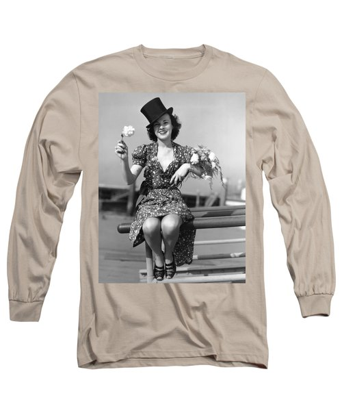 The Woman With Carnations Long Sleeve T-Shirt