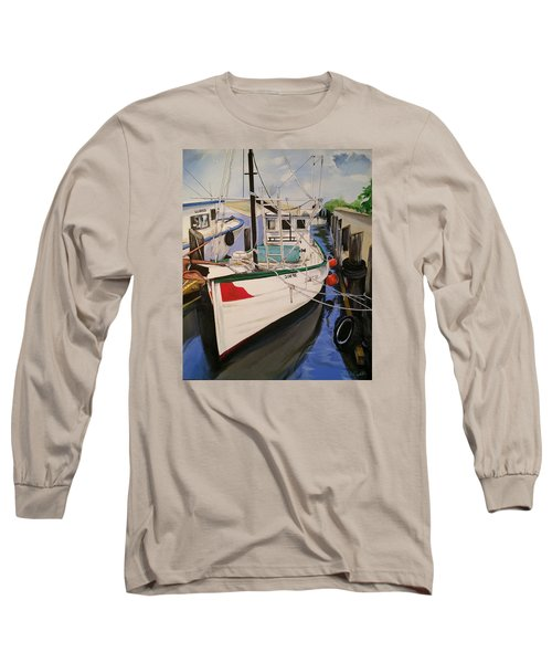 The Wooden Work Boats Long Sleeve T-Shirt