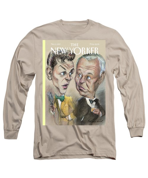 The Young Frank Sinatra Looking At The Old Frank Long Sleeve T-Shirt