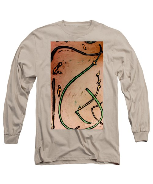 Long Sleeve T-Shirt featuring the painting Thirteen by Jacqueline McReynolds