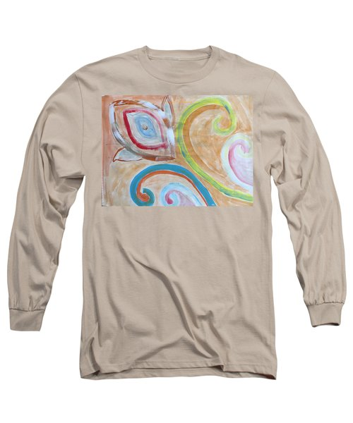 Long Sleeve T-Shirt featuring the painting Thought by Sonali Gangane