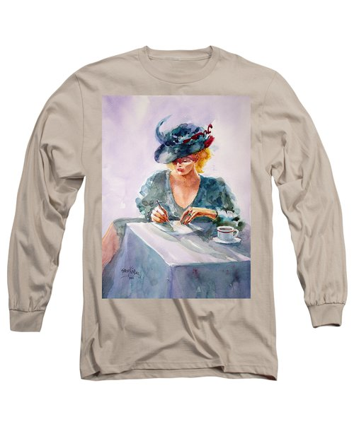 Long Sleeve T-Shirt featuring the painting Thoughtful... by Faruk Koksal