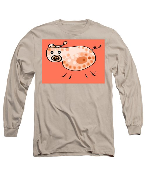 Thoughts And Colors Series Pig Long Sleeve T-Shirt