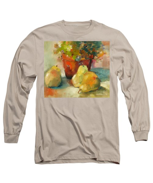 Three Pears And A Pot Long Sleeve T-Shirt