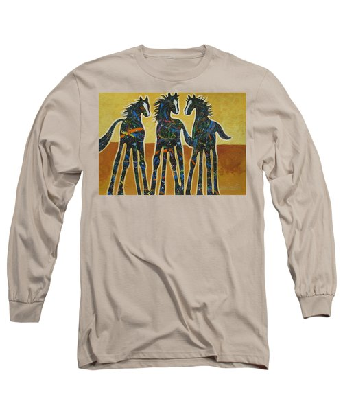 Three Ponies Long Sleeve T-Shirt