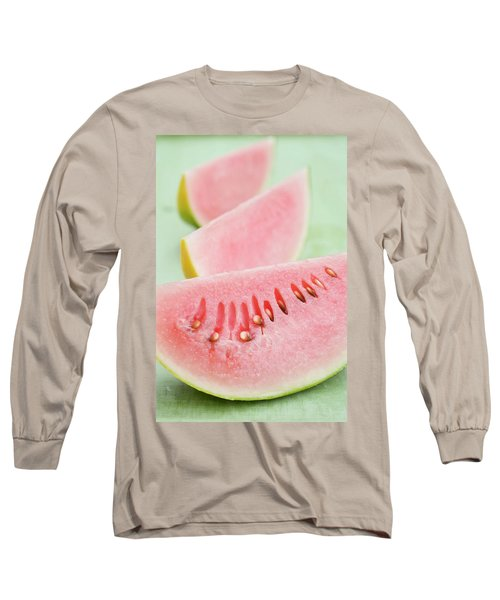 Three Wedges Of Watermelon Long Sleeve T-Shirt