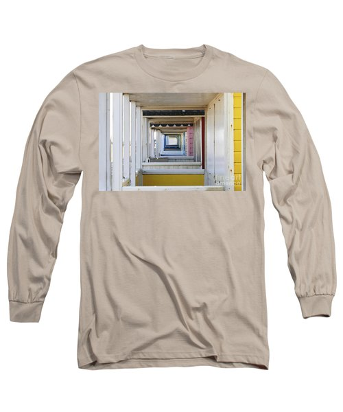 Through The Beach Huts Long Sleeve T-Shirt