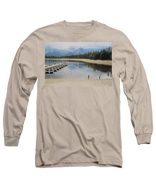 Throwing Rocks Long Sleeve T-Shirt