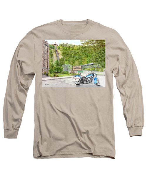 Long Sleeve T-Shirt featuring the painting Thunder In Johnstown by Albert Puskaric