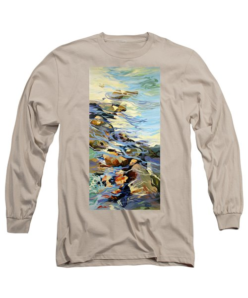 Long Sleeve T-Shirt featuring the painting Tidepool 3 by Rae Andrews
