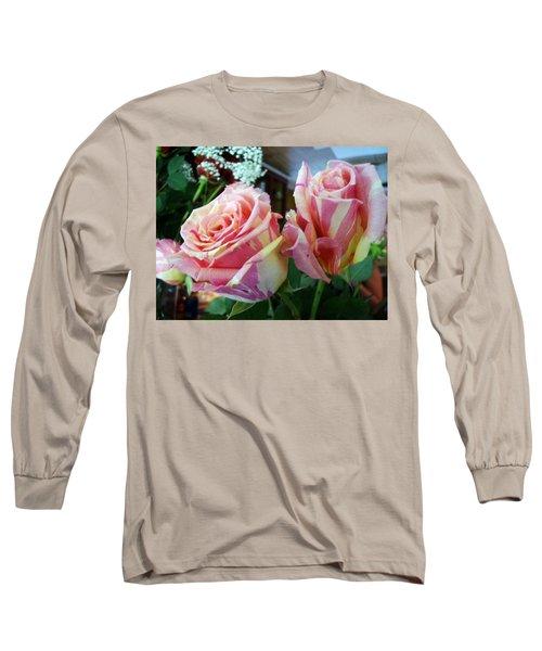 Tie Dye Roses Long Sleeve T-Shirt by Deborah Lacoste