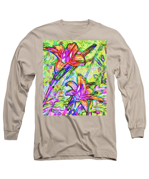 Tiger Lillies Long Sleeve T-Shirt by Ian  MacDonald