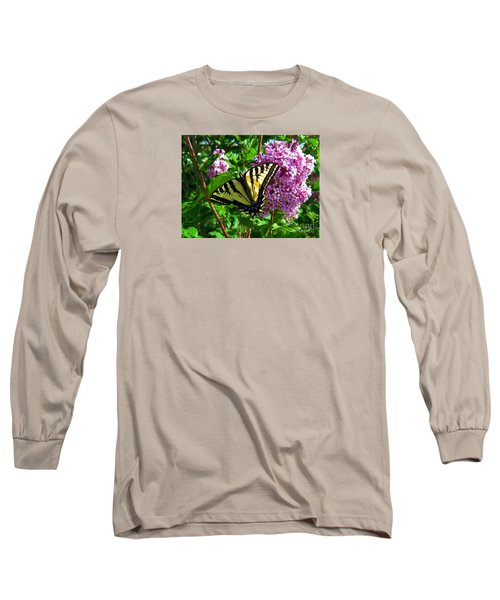 Long Sleeve T-Shirt featuring the photograph Tiger Swallowtail by Janice Westerberg