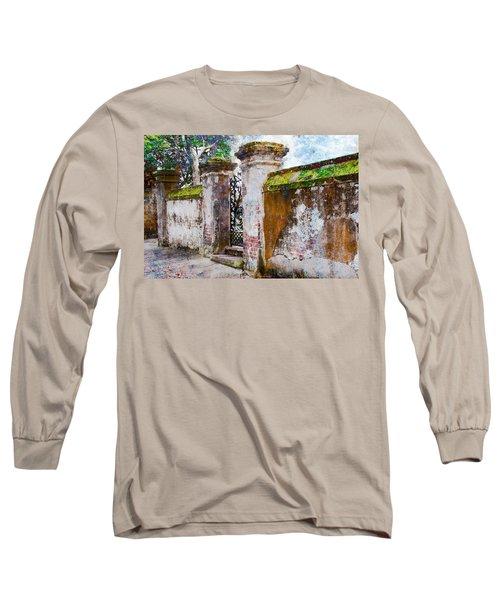 Brick Wall Charleston South Carolina Long Sleeve T-Shirt
