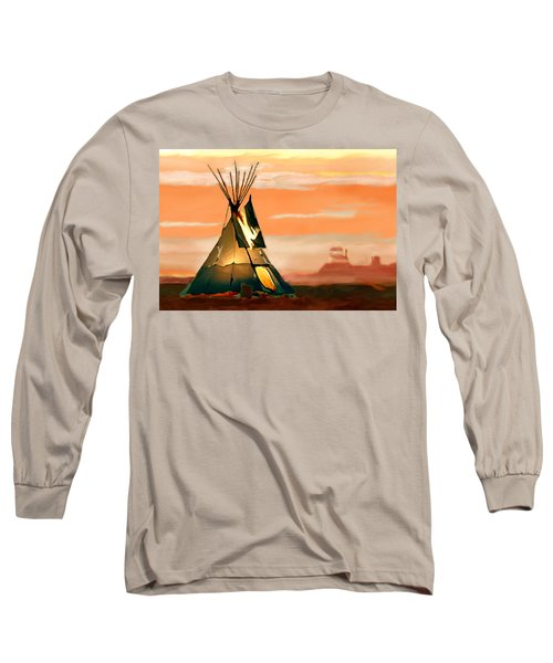 Tipi Or Tepee Monument Valley Long Sleeve T-Shirt