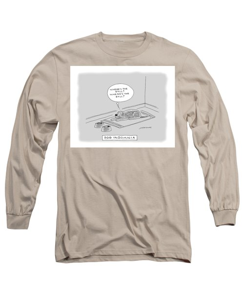 Title: Dog Insomnia. A Dog At Night Thinking Long Sleeve T-Shirt