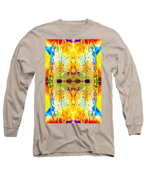 Long Sleeve T-Shirt featuring the digital art Tony's Tower Abstract Pattern Artwork By Tony Witkowski by Omaste Witkowski