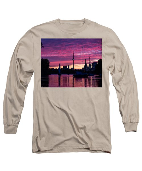 Toronto Skyline - The Boats Are Coming In Long Sleeve T-Shirt