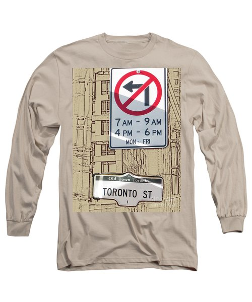 Toronto Street Sign Long Sleeve T-Shirt