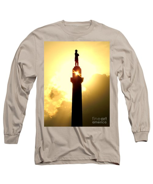 General Robert E. Lee And The Summer Solstice In New Orleans Long Sleeve T-Shirt by Michael Hoard
