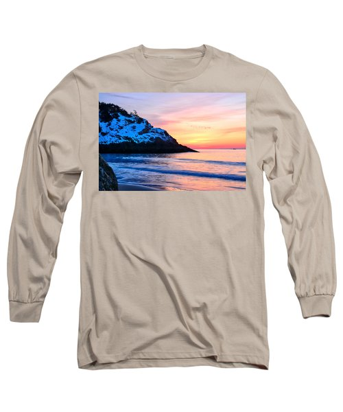 Touch Of Snow Singing Beach Long Sleeve T-Shirt