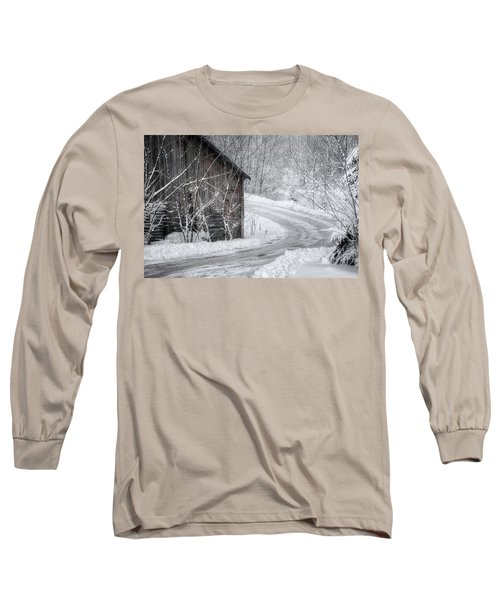 Touched By Snow Long Sleeve T-Shirt by Joan Carroll