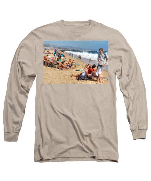 Tourist At Beach Long Sleeve T-Shirt
