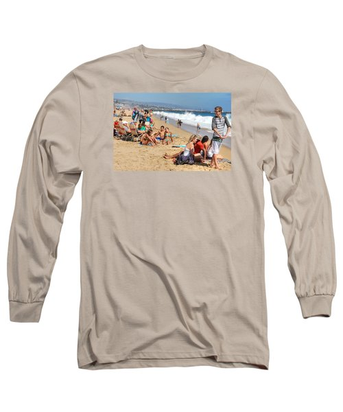Tourist At Beach Long Sleeve T-Shirt