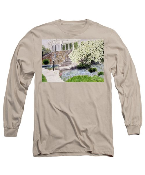 Long Sleeve T-Shirt featuring the painting Tower Hill Blues by Carol Flagg