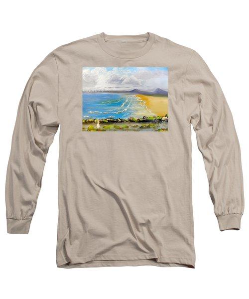 Towradgi Beach Long Sleeve T-Shirt by Pamela  Meredith