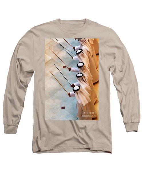Traditional Emirati Men's Dance  Long Sleeve T-Shirt