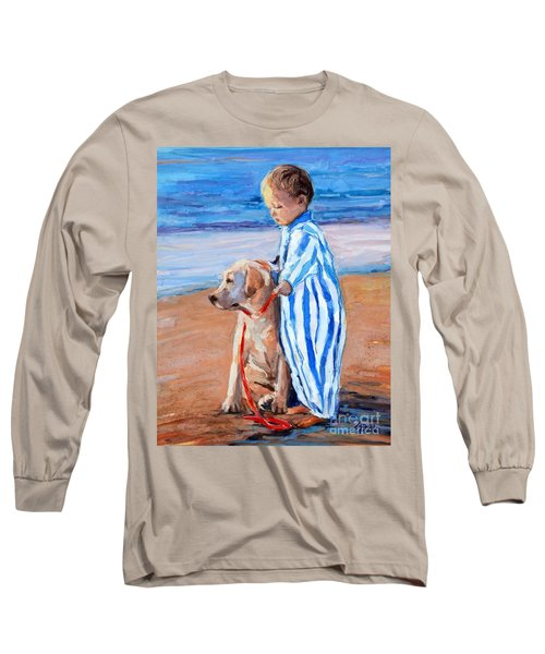 Long Sleeve T-Shirt featuring the painting Training Day by Molly Poole