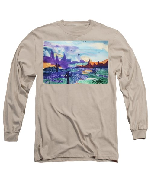 Long Sleeve T-Shirt featuring the painting Tranquility II by Ellen Levinson