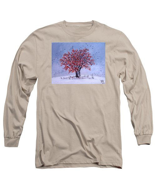 Long Sleeve T-Shirt featuring the painting Tree Of Life by Nina Mitkova