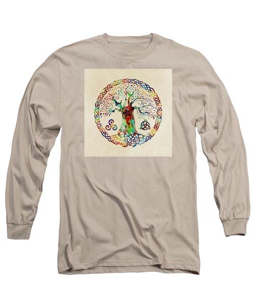 Tree Of Life Long Sleeve T-Shirt by Olga Hamilton