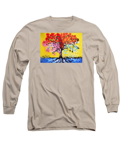 Long Sleeve T-Shirt featuring the painting Tree Of Life by Ramona Matei