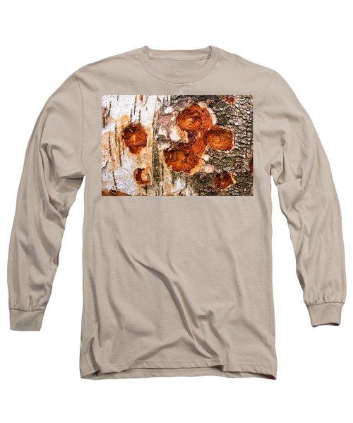 Tree Trunk Closeup - Wooden Structure Long Sleeve T-Shirt