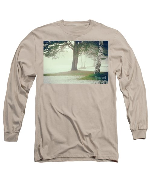 Long Sleeve T-Shirt featuring the photograph Trees In Fog by Silvia Ganora