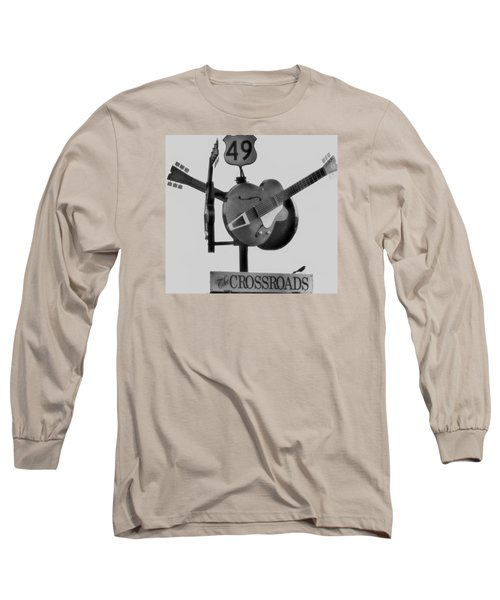 Tribute To The Blues At The Crossroads Long Sleeve T-Shirt by Dan Sproul