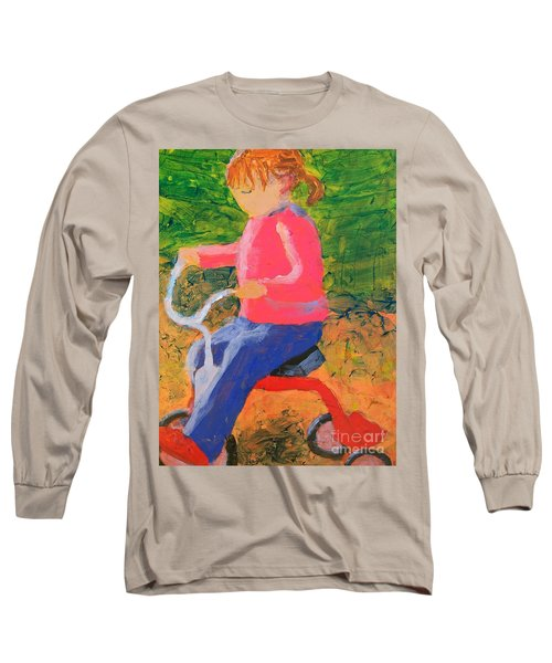 Long Sleeve T-Shirt featuring the painting Tricycle by Donald J Ryker III