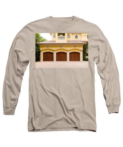 Triple Garage Doors Long Sleeve T-Shirt