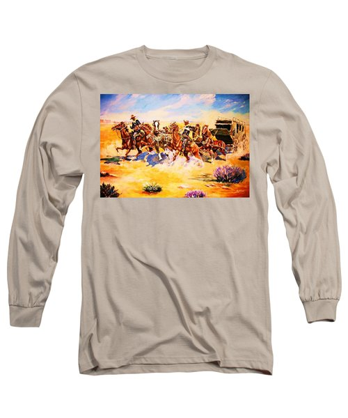 Troopers Stopping A Runaway Coach Long Sleeve T-Shirt