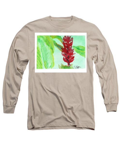 Tropical Flowers 2 Long Sleeve T-Shirt by C Sitton