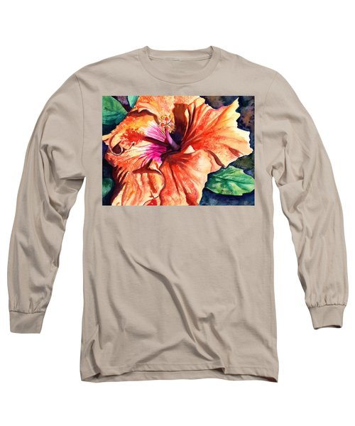 Tropical Hibiscus Long Sleeve T-Shirt