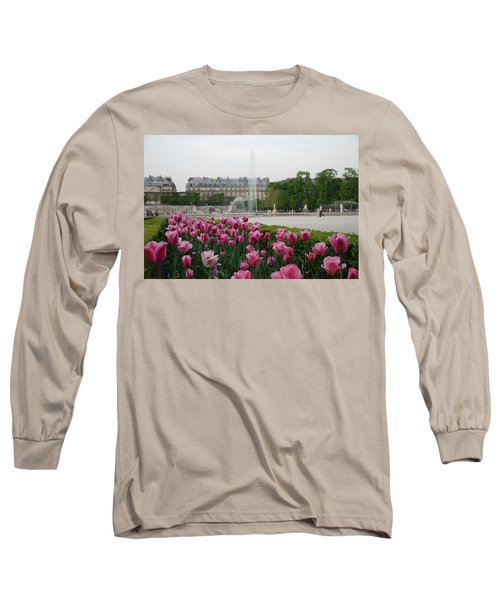 Tuileries Garden In Bloom Long Sleeve T-Shirt