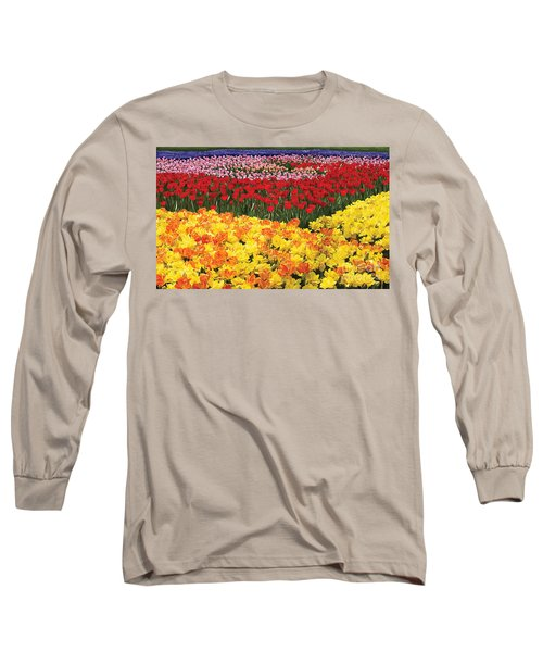 Long Sleeve T-Shirt featuring the digital art Tulip Field by Tim Gilliland